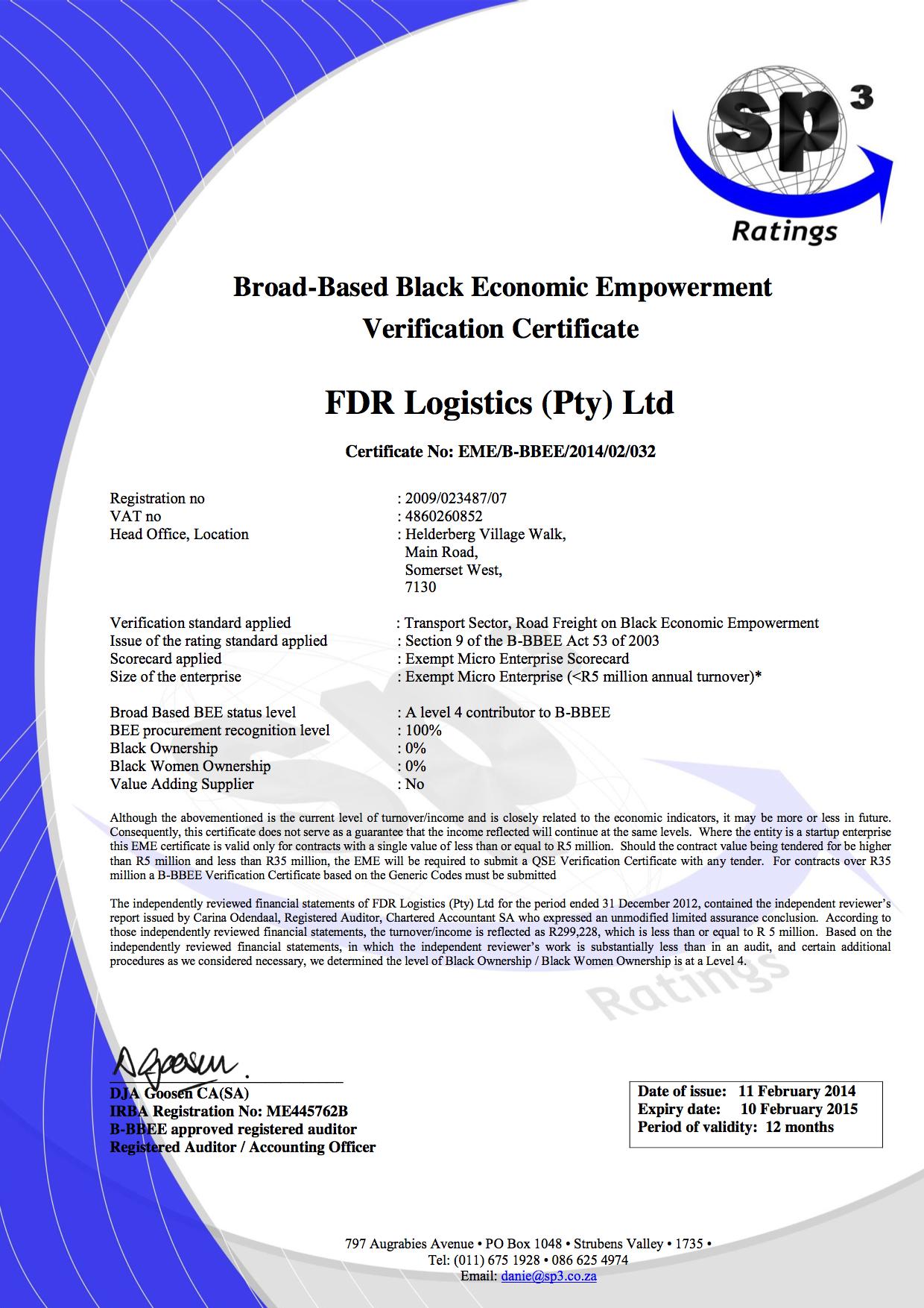 B-BBEE-Certificate